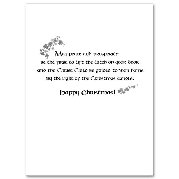 An Old Irish Blessing for Christmas and the New Year