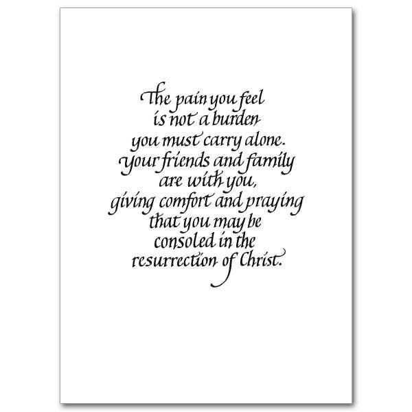 Sharing Your Sorrow