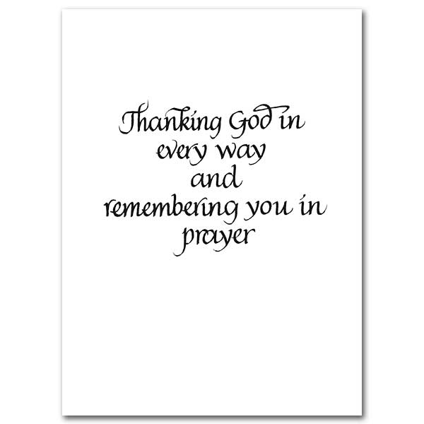 Grazie, Merci, Thank You