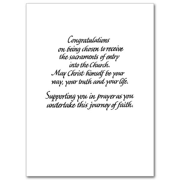 as you are called to     election   rcia congratulations card
