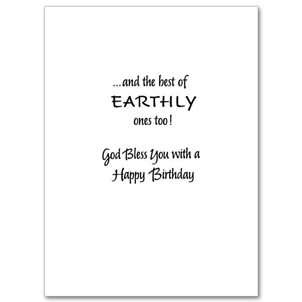 Heavenly Blessings On Your Birthday Birthday Card – Birthday Card Texts