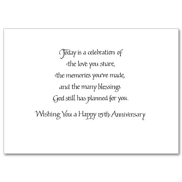 15 Years of Marriage in the Sanctifying Grace of God's Love
