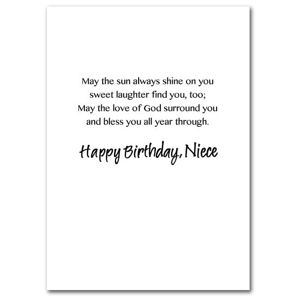 A Birthday Blessing for a Special Niece