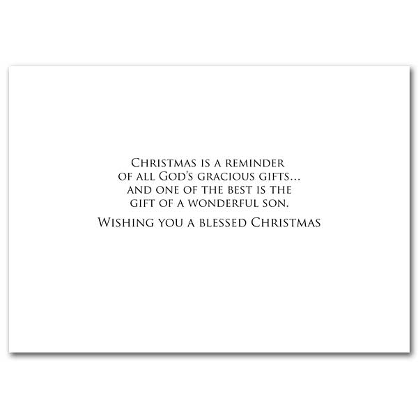 Merry Christmas Son Card For