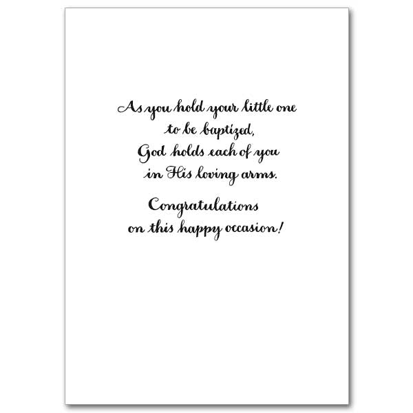 On babys baptismal day child baptism card view inside m4hsunfo