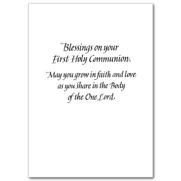 One bread one body first communion card view inside reheart Choice Image