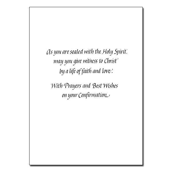 Confirmed in the Faith: Confirmation Card