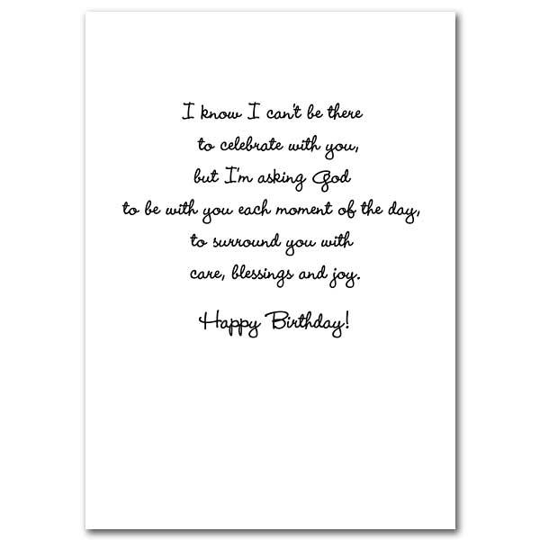 Sending A Prayer On Your Birthday Card