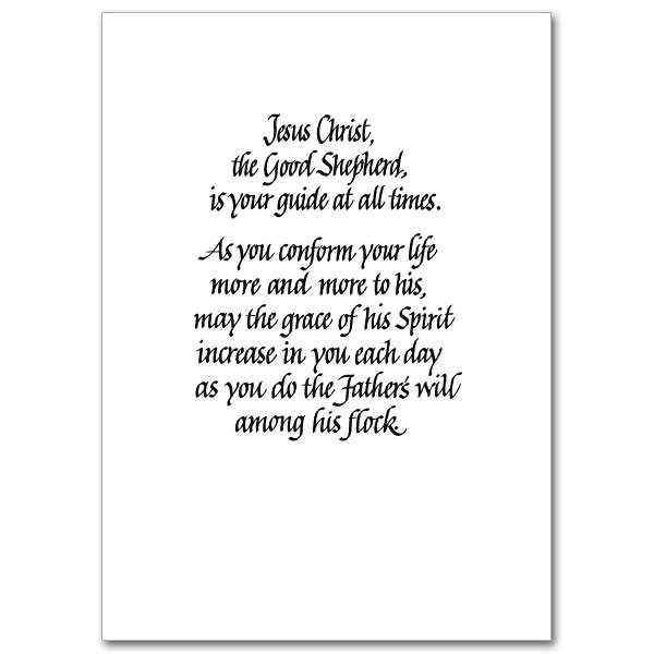 ... You for Your Faithful Ministry: Priest/Minister Appreciation Card
