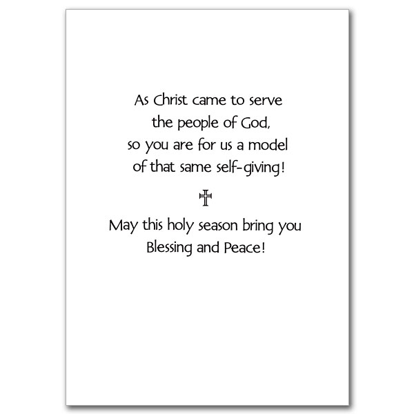 view inside - Christmas Blessings For Cards