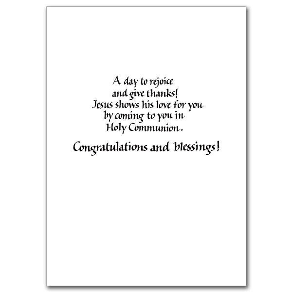 On Your First Holy Communion First Communion Card