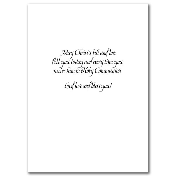 congratulations on your first holy communion first communion card