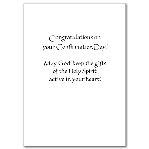 To a fine son as he is confirmed confirmation card son view inside negle Choice Image