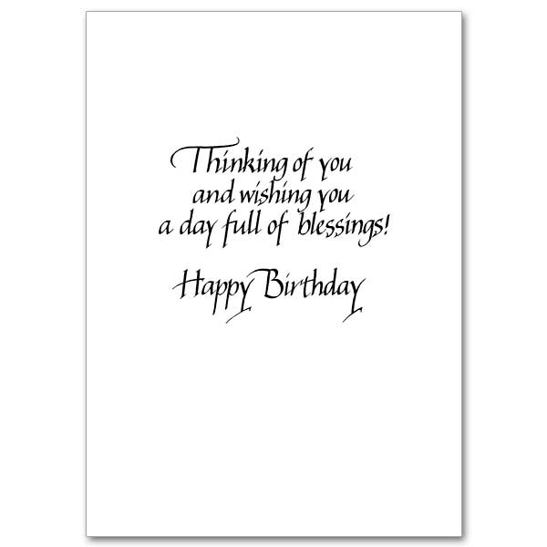 Thinking of You Brother Family Birthday Card for Brother – Text Birthday Card