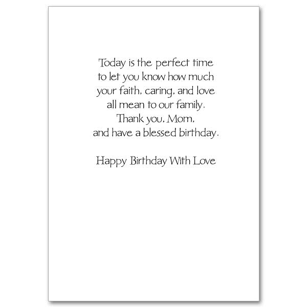 Gratitude to Mom Family Birthday Card for Mom – Family Birthday Cards