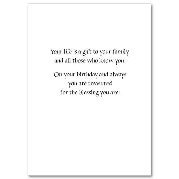 Youre a gift daughter family birthday card for daughter view inside bookmarktalkfo Images