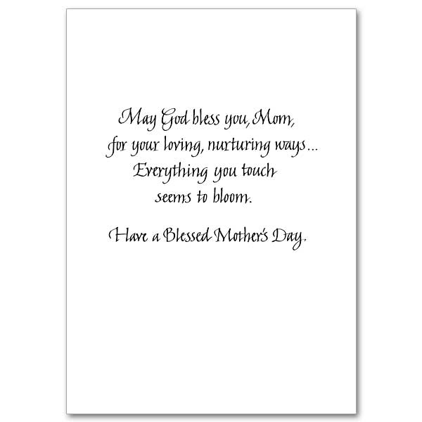 Bouquets Of Blessings Mothers Day Card