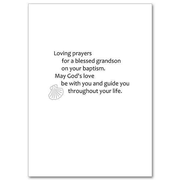 Grandson Baptism Card