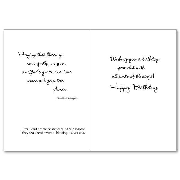Birthday Blessings: Brother Christopher Birthday Card