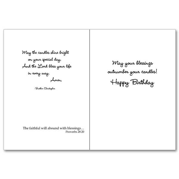 A Birthday Prayer for You Brother Christopher Birthday Card