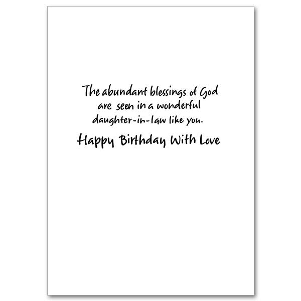 With love daughter in law on your birthday daughter in law birthday view inside bookmarktalkfo Choice Image