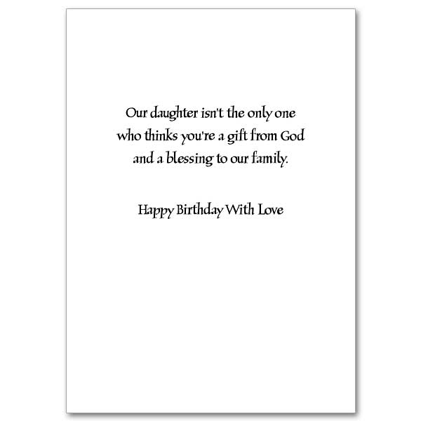 God Bless You Son In Law Birthday Card