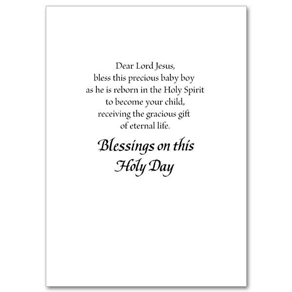 A Baptismal Prayer For Your Baby Boy: Baptism Card for Boy