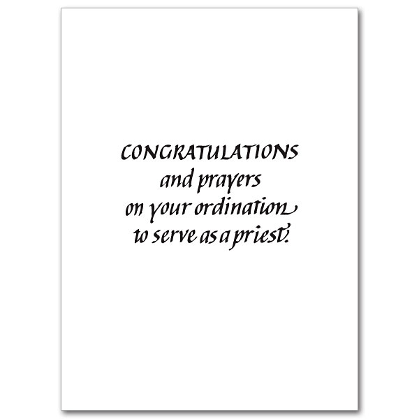 On Your Priestly Ordination: Ordination Congratulations Card