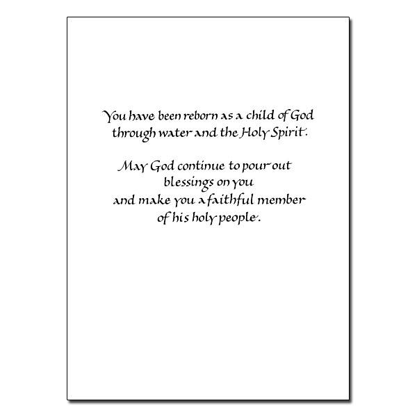 For a Special Granddaughter...: Granddaughter Baptism Card