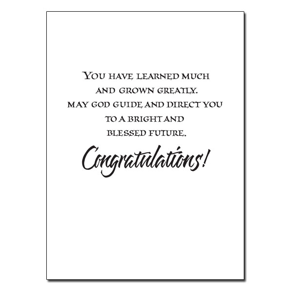 blessings on your graduation day graduation card congratulation
