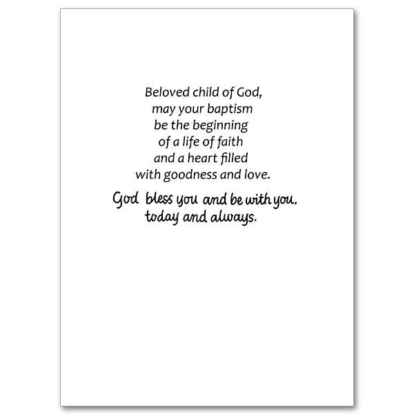 For Your Baby Boy On His Baptismal Day: Baptism Card