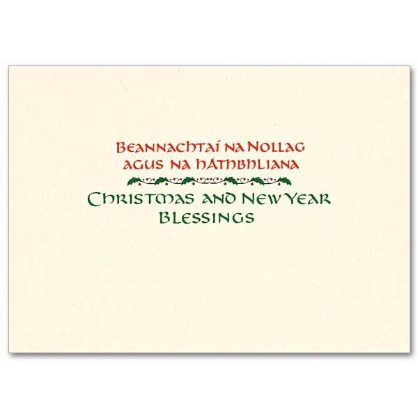 An Irish Christmas Prayer: Splendor Irish Christmas Card