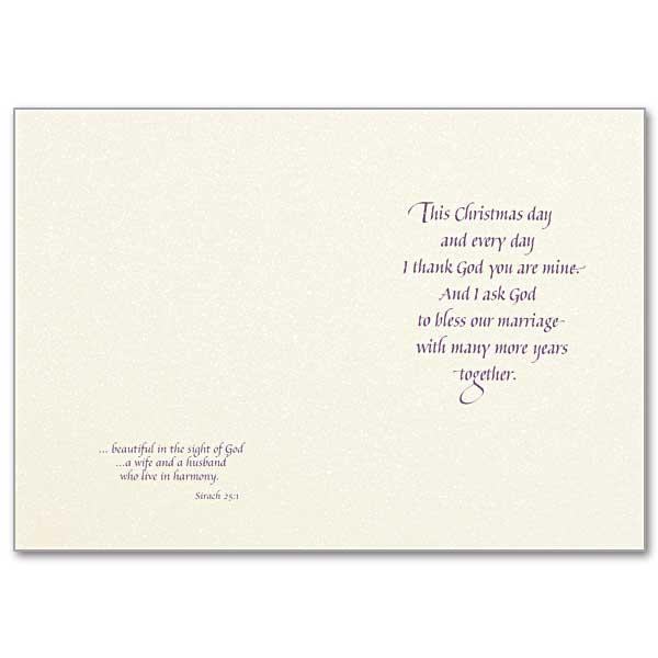 to my husband at christmas christmas card