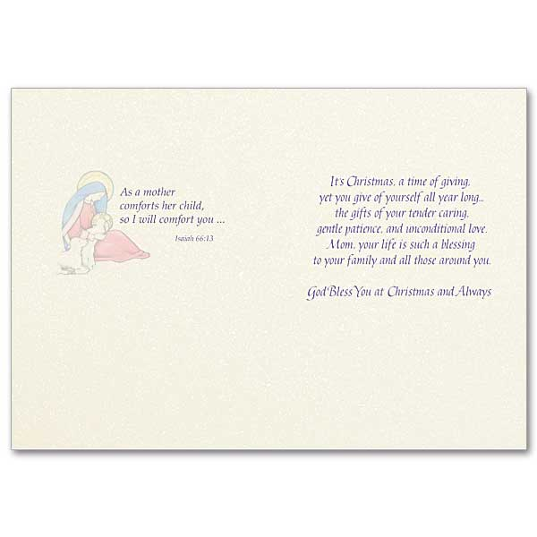 Mom, Your Life Is Such a Blessing: Christmas Card for Mother