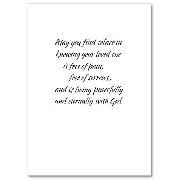 wishing you peace  sympathy card