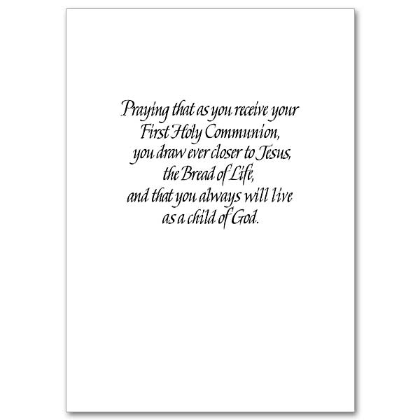 first communion saying