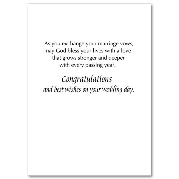 And now faith hope and love abide wedding congratulations card view inside m4hsunfo