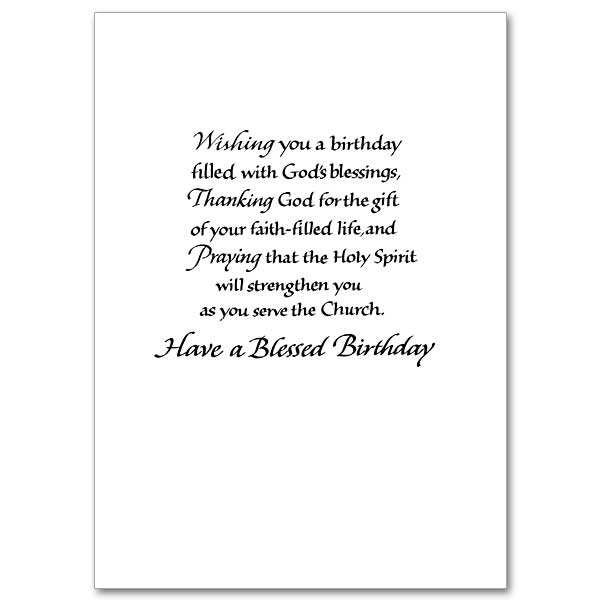 Priest Birthday Card The Printery House