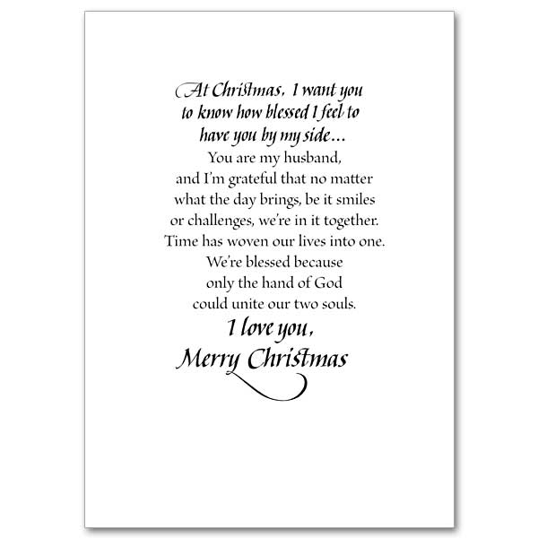 To My Loving Husband at Christmas