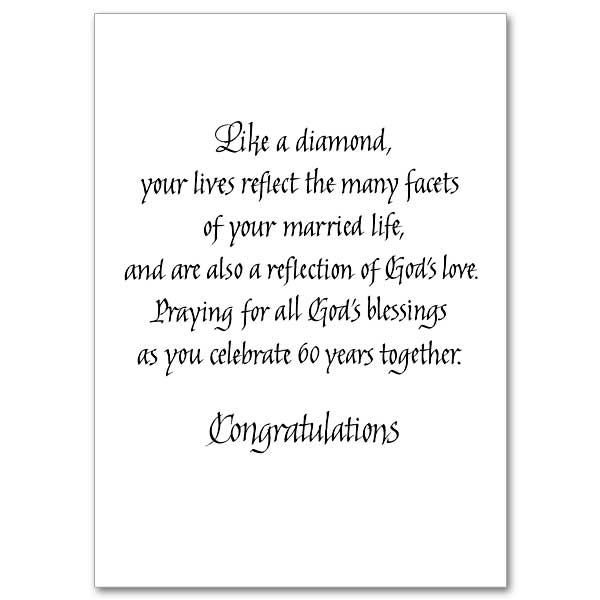 Celebrating Your Diamond Anniversary