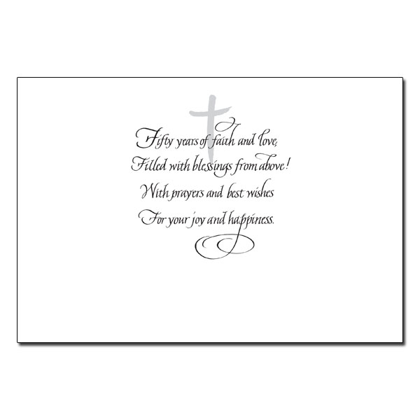 On the Fiftieth Anniversary of Your Marriage 50th Wedding – Wedding Anniversary Card Quotes