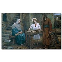 Jesus Helping St. Joseph in His Workshop