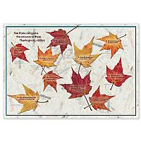 Thanksgiving Riddles Placemat