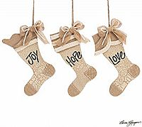 Joy Hope Love Stocking Ornaments