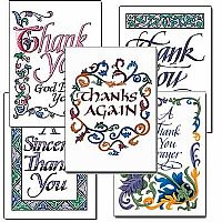 Thank You Calligraphy Assortment A522