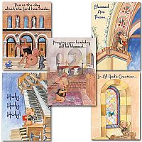 Benny the Church Mouse Birthday Card Assortment