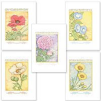Watercolor Floral Birthday Assortment