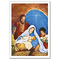 Mary, Joseph, Baby Jesus and Shepherds