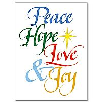 Peace Hope Love Joy