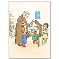 St Francis with Children and Creche